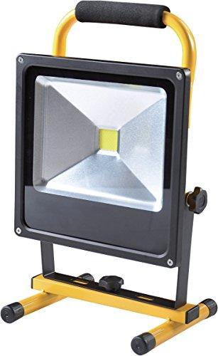 Hofftech COB LED Arbeitsleuchte Baustrahler, Tragbar , IP65, mit Akku, 600 - 3000 Lumen, IP65, 6400K, Inkl. 1x Autoladegerät 12V + Ladegerät (50)