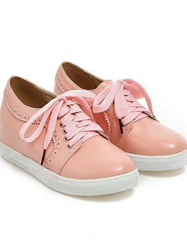 ZQ Scarpe Donna - Stringate - Ufficio e lavoro / Formale - Punta arrotondata - Piatto - Finta pelle - Nero / Rosa / Bianco / Beige , pink-us6.5-7 / eu37 / uk4.5-5 / cn37 , pink-us6.5-7 / eu37 / uk4.5- pink-us6.5-7 / eu37 / uk4.5-5 / cn37