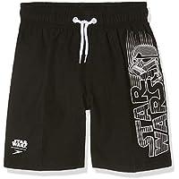 Speedo Graphic Leisure Water Short - Pantalón Corto para niño, Color Negro/Blanco/Rojo, Talla XL