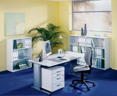 BASIC-II Regal - Höhe 1090 mm, Breite 800 mm - officegrau - Aktenregal BASIC II Büroregal Ordnerregal Sandro II Büromöbelprogramm