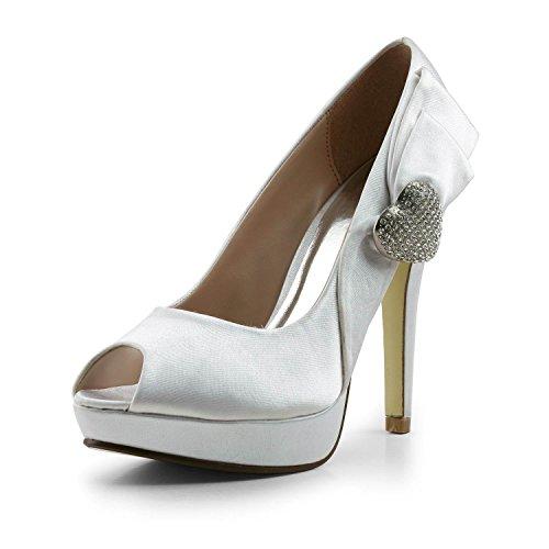 Miyoopark , Peep-Toe femme Ivory-11.5cm Heel