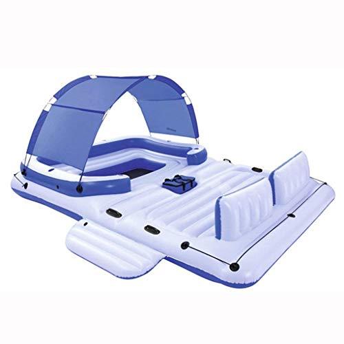 Schwimmendes Bett des Swimmingpools, großes aufblasbares sich hin- und herbewegendes Boot-sich hin- und herbewegendes Bett, schwimmendes aufblasbares Spielzeug-Erwachsener und Kinder, die Bett-Wasser- (Schwimmer Fitness-tracker)