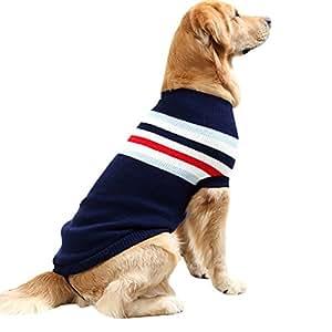 Nibesser Pull-Overs Vêtement De Chandails Tricot Pulls pour Chien Husky Hiver