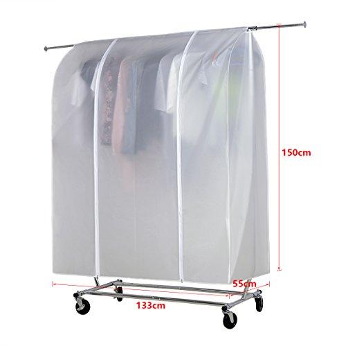 HLC 150 x 133 x 55 CM Anti Staub Abdeckung Abdeckhaube Staubschutz für Kleiderständer Kleiderstange Garderobenständer