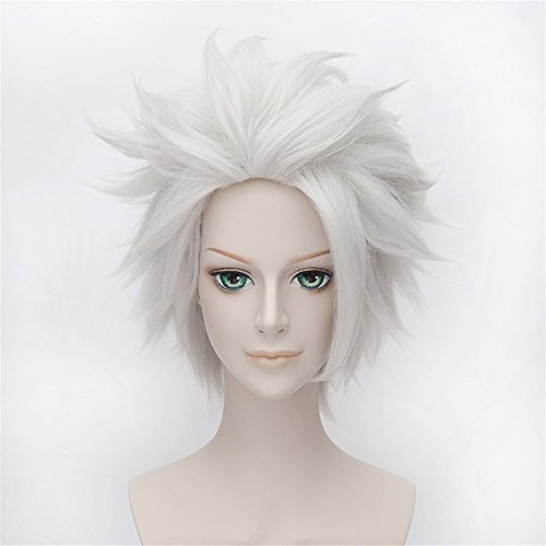 Toushirou Cosplay Kostüme Hitsugaya (LanTing BLEACH Hitsugaya Toushirou Silver White Short Styled Woman Cosplay Party Fashion Anime)