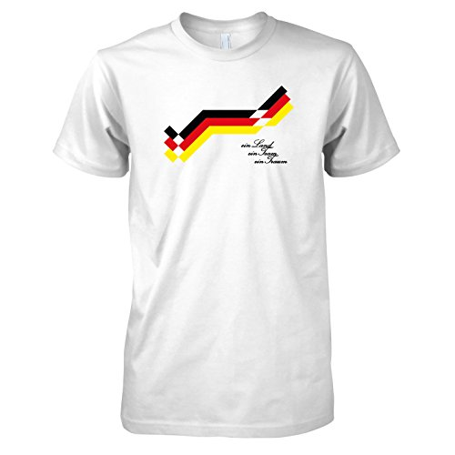 TEXLAB - Old School Fußball Deutschland Trikot (1990) - Ein Land, ein Team, ein Traum - Herren T-Shirt, Größe XXL, weiß