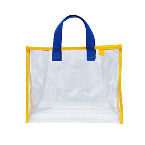 HhGold Tasche Lagerung Strandtasche Tote Bag Kulturbeutel Tasche Transparent Organizer für Strand Arbeit Sport Picknick Reisen Shopping Mann Frau (Farbe : Wie Gezeigt, Größe : Einheitsgröße) (Tote Bag Großhandel)