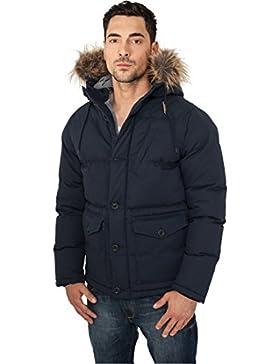 MAG Urban Classics TB574Chambray Lined Parka chaqueta hombre Streetwear Winter Jacken, 3XL