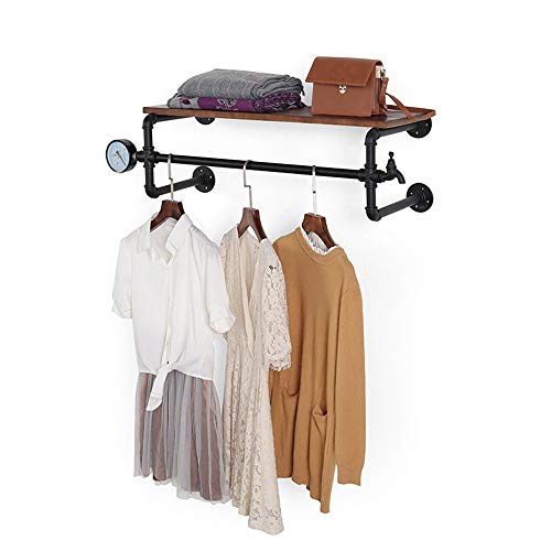 YNN Industrielle Rohrwandbefestigungskleidung & Kleiderständer - Perfekt für Einzelhandelsanzeigen, Organisieren, Wäscherei (größe : 100 * 32 * 30cm) - Metall-wäscherei