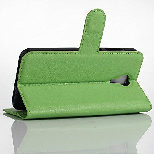 Qiaogle Telefon Case - PU Leder Wallet Schutzhülle Case für Apple iPhone 7 Plus (5.5 Zoll) - FC01 / Braun Klassische Solid Color Geschäfts art FC07 / Grün Klassische Solid Color Geschäfts art