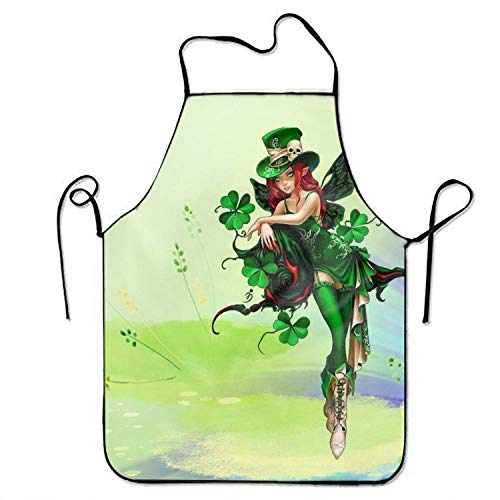 best pillow Women's Sexy Print Kitchen Apron St Patricks Day Funny Cooking Aprons
