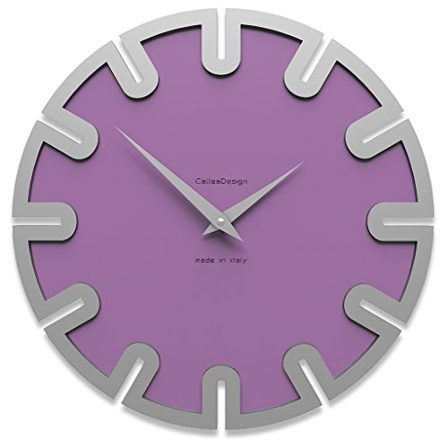 Wanduhr Roland Color violett 35 cm x 35 cm Made in Italy