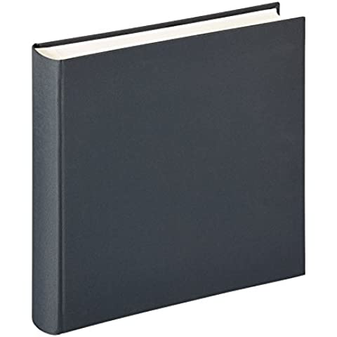 Walther Design FA-225-D álbum de fotos Lino, 34 x 35 cm, 100 páginas blancas, con lino, gris