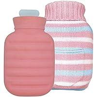 Baoffs Luxus-Wärmflasche Hohe Qualität 1000 ML Silikon Heißwasserflasche Heißwasserbeutel für Schmerzen Kalt Mit... preisvergleich bei billige-tabletten.eu