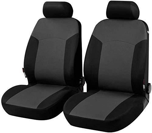 Coprisedili Anteriori 207+ Versione (2006-2015) compatibili con sedili con airbag, con Fori per i poggiatesta e bracciolo Lat