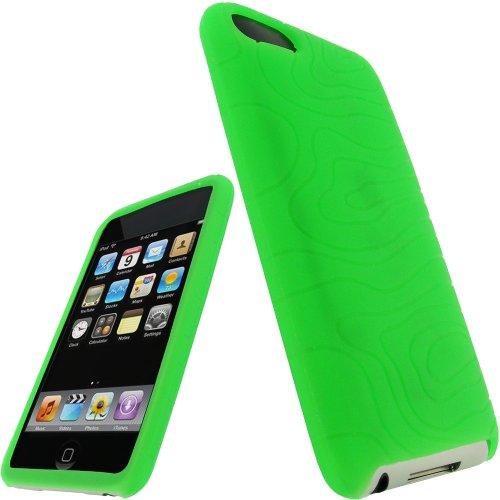igadgitz U0058  Silikon Hülle Etui Case Schutzhülle Tasche für Apple iPod Touch 2. & 3. Generation mit Schutzfolie - Verde (Ipod 3 Hülle Touch)