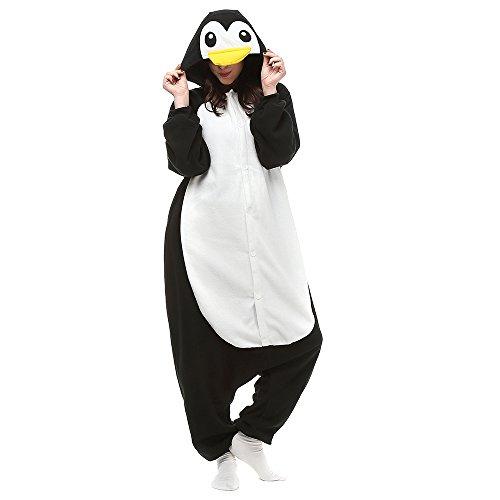 Silver_river Pinguin Onesie Jumpsuits Halloween Kostüm Pyjama Oberall Hausanzug Kigurum ()