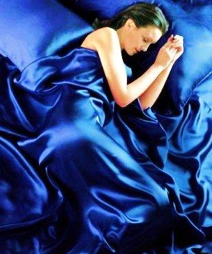 Königsblau 6 Stück Satin Luxusbettwäsche (Spannbetttuch + Bettdecke + Kissenbezüge) 230cm x 220cm (8 Stück King-schlafzimmer)