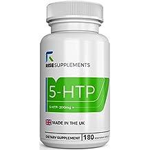 5-HTP CAPSULAS - 200 mg | APOYO NATURAL DEL MEJOR ÁNIMO Y DEL SUEÑO | 3 MESES DE SUMINISTRO | 180 Capsulas Vegetarianas | Hecho en Instalaciones con ...