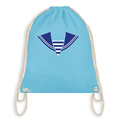 & Fasching - Matrose Kostüm Kragen - Unisize - Hellblau - WM110 - Turnbeutel I Gym Bag (Sailor Kostüme Männer)