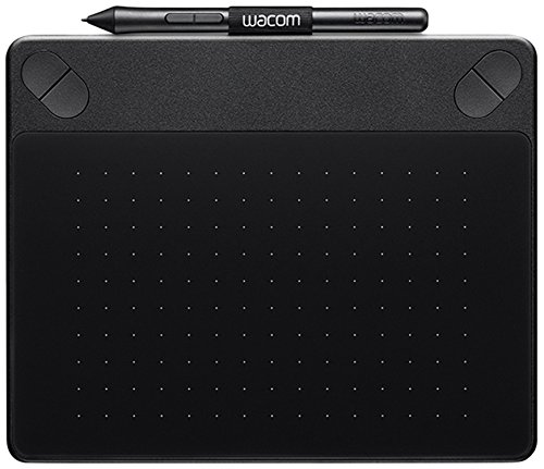 Wacom CTH-490AK-S Intuos Art Tavoletta con Penna e Touch, Software Creativo Artistico Value Pack per Stampe Digitali, Nero