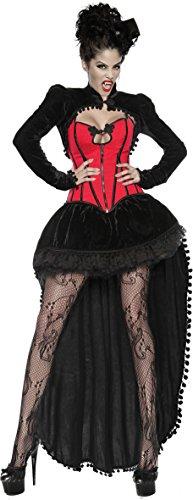Arunta® Vampir Halloween Kostüm Set für Damen 4 teilig mit Rock Petticoat Corsage und Bolero (40) (Rock Vampire)