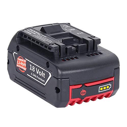 6000mAh Akku Für Bosch 18V 6.0Ah Lithium-Ionen-Akku Werkzeug Batterie BAT620 BAT621 BAT622 BAT609 BAT618 DDB181-02 Neue Version mit LED-Anzeige