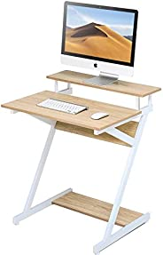 FITUEYES Computer Desk with Monitor Riser Shelf fit Home Office Small Place, Gaming/Writing/Eating/Sofa Bed En