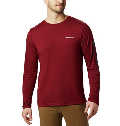 Long Sleeve Graphic Tee (Columbia Miller Valley T-Shirt, langärmelig, Herren, Miller ValleyTM Long Sleeve Graphic Tee, Red Jasper, Dark Mountain, Large)