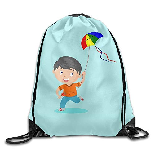 HLKPE A Kite Boy Large Drawstring Sport Backpack Sack Bag Sackpack