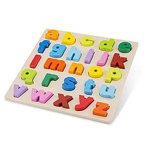 New Classic Toys Puzzle Alphabet-Lowercase, Multicolore Color (10535)