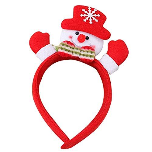 üm Stirnband Weihnachtsdekoration Geschenk Ornament mit Bell Horn Kind Kostüm Zubehör für Erwachsene ()
