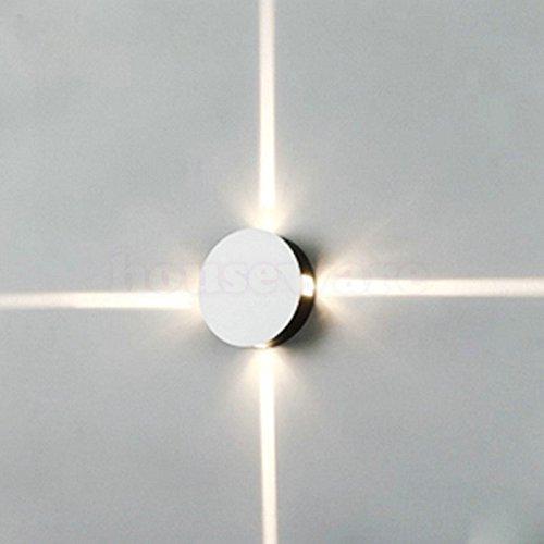 SJMM 4*3W outdoor LEDU Wandleuchten wasserdichte LED-Kreuz-Lampe els Hintergrund Dekorative Beleuchtung Effekt KTV Bar Lights WX49,Cool White (5500-7000K)(#JD-1037)