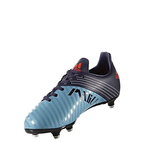 adidas Malice Junior Sg, Scarpe da Rugby Bambino Multicolore (Tactile Steel /Noble Ink /Blaze Orange )
