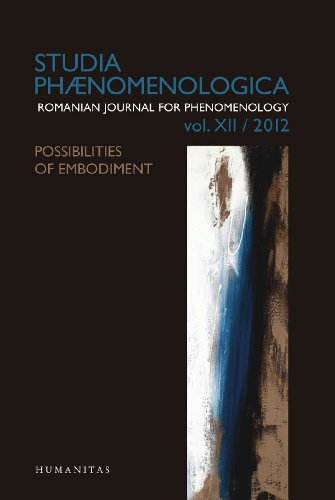 Studia Phaenomenologica: Possibilities of Embodiment v. XII/2012