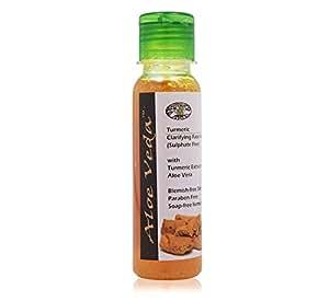 Aloe Veda Turmeric Clarifying Face Wash - Sulphate Free, Herbal, 100ml