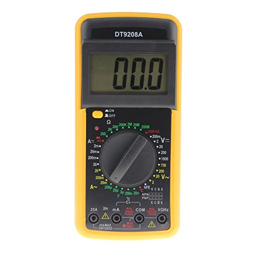 prettygood7 Digitales Multimeter, Temperatur, Hertz-Tester, Multimeter, Neoteck DT-9208A, Volt, Amp Ohm, Hz, AC/DC, Taschenformat, digitales Multimeter, Multi-Tester, Voltmeter, Amperemeter, Ohmmeter (Digital Ac Voltmeter)