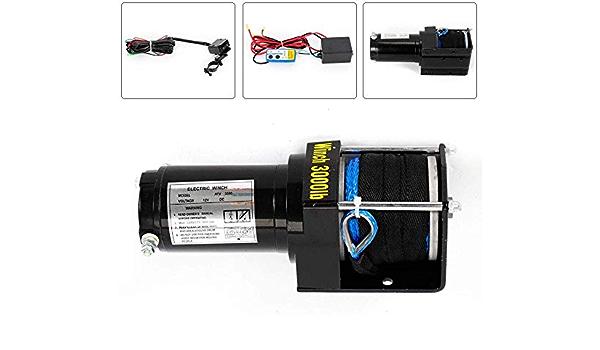 Tyzxr 2 2 Kw 12v Elektrische Seilwinde Permanent Magnet Motor Winde Fernbedienung 3000 Lb 1360 Kg Küche Haushalt