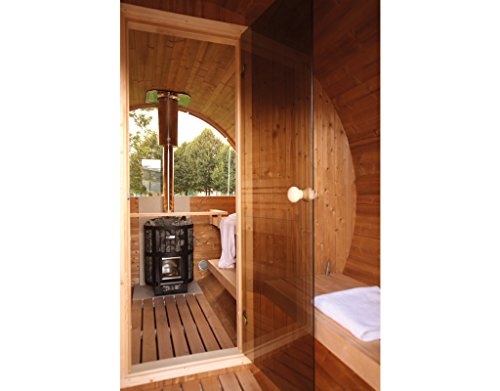 Gartensauna Wolff Finnhaus Saunafass 400 de luxe