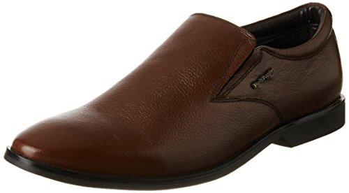hush puppies Men's Aaron Plain Slip On Brown Leather ...