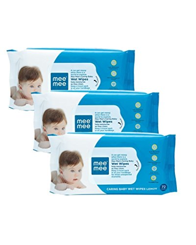 Mee Mee baby wet wipes Lemon Fragrance 30 pcs (pack Of 3)  available at amazon for Rs.147
