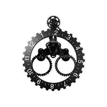 horloge murale poser avec engrenages visibles gcl06 278 high tech. Black Bedroom Furniture Sets. Home Design Ideas