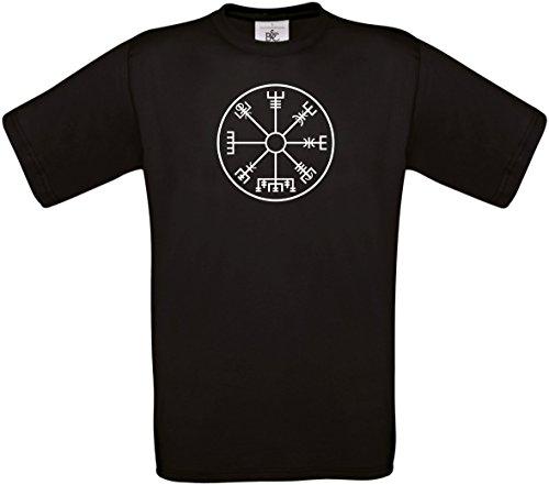 Textildruck Universum Herren T-Shirt Wikingerkompass S bis 5XL