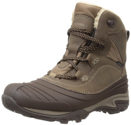 Merrell Snowbound Mid Wtpf, Stivaletti donna, Marrone (Braun (Dark Earth)), 39 EU