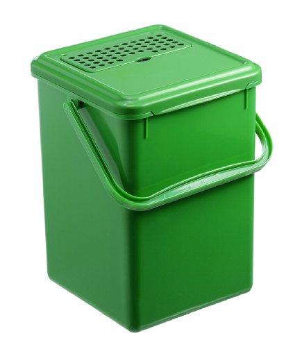Rotho Contenitore per Umido con Filtro a Carboni Attivi, Verde, 27.2 x 21.4 x 20.4 cm