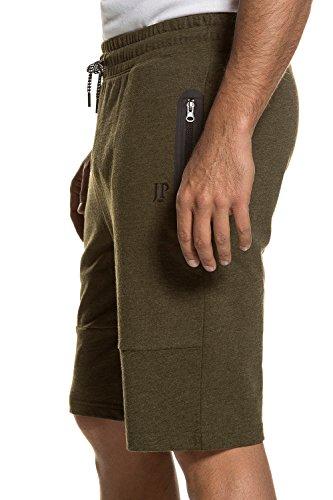 JP 1880 Große Größen Herren große Größen bis 7XL   Bermuda   Sportshorts, Cargo-Style, Sweat-Shorts   elastisch, Taschen   schwarz, dunkelblau, oliv   711299 oliv-melange