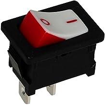 AERZETIX: Interruptor conmutador basculantes de boton SPST ON-OFF 10A/250V 16A/12V, 2 posiciones