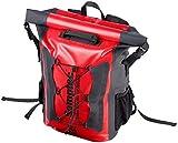 Semptec Urban Survival Technology Wasserfester Rucksack: Wasserdichter Trekking-Rucksack aus LKW-Plane, 20 Liter, IPX6 (Kuriertasche)