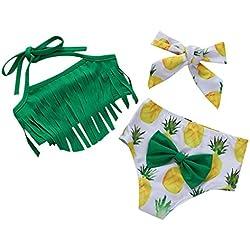 c9490dab4a40 Jimmackey Mare e Piscina Costumi a Due Pezzi Costume da Bagno Bambino  Ananas Stampa Nappa Fionda