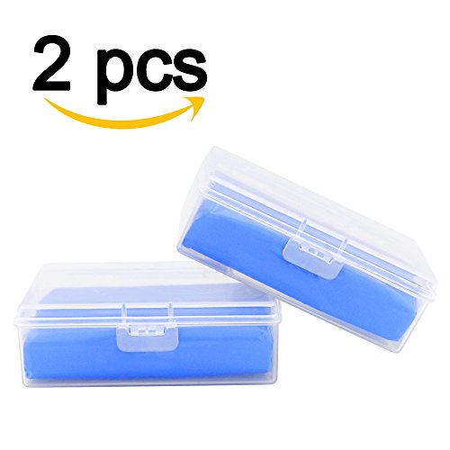 2 Stücke Reinigungsknete auto,Nakeey auto Reinigungsknete für Lackreinigungsknete,160g Reinigungsknete zur Lackpflege und Felgenreinigung Blau (Lack-aufbewahrungsbox)